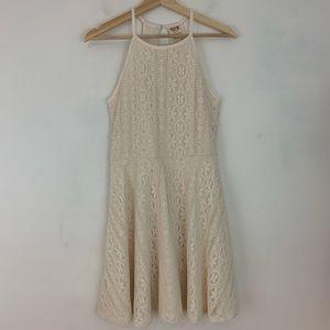 Mossimo Lace Overlay Sleeveless Dress Ivory